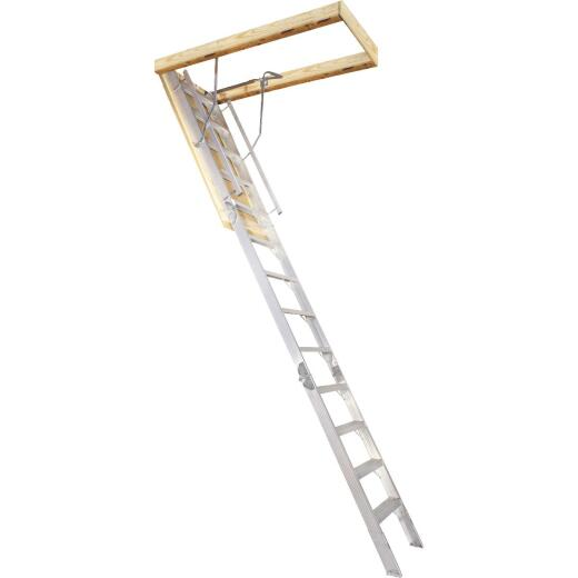 Louisville Everest 10 Ft. to 12 Ft. 22-1/2 In. x 63 In. Aluminum Attic Stairs, 350 Lb. Load