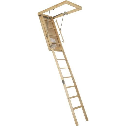 Louisville Premium 8 Ft. 9 In. to 10 Ft. 22-1/2 In. x 54 In. Wood Attic Stairs, 250 Lb. Load