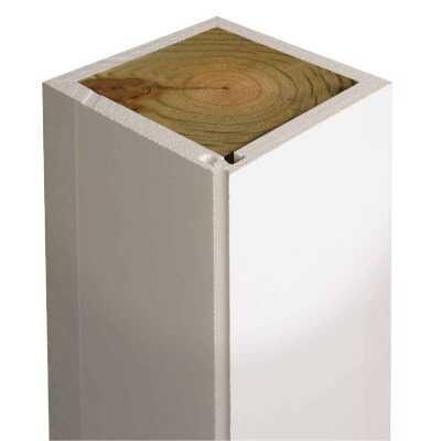 Crown Column DuraSnap 4 In. W x 4 In. H x 102 In. L White PVC Post Wrap