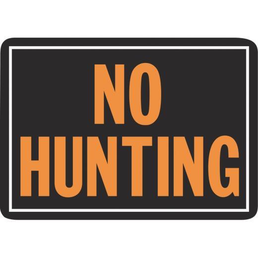 Hy-Ko Aluminum Sign, No Hunting