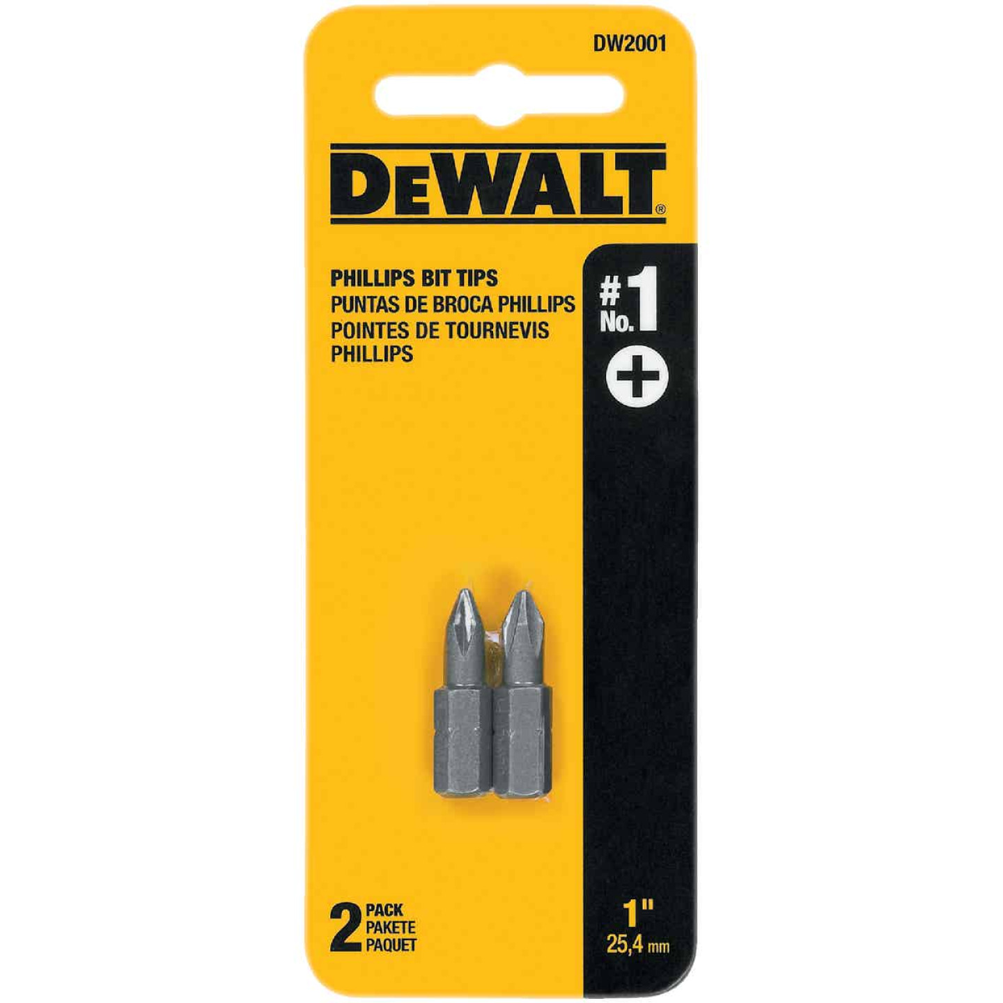 DeWalt Phillips #1 1 In. Insert Screwdriver Bit Image 1