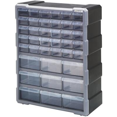 Quantum Storage 15 In. W x 18.75 In. H x 6.25 In. L Small Parts Organizer with 39 Drawers
