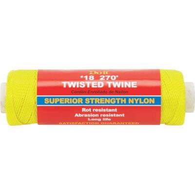 Do it #18 x 270 Ft. Yellow Nylon Twisted Twine