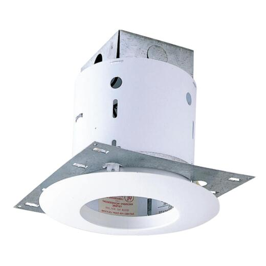 Thomas 5 In. New Construction/Remodel Non-IC Rated White Open Trim Recessed Light Kit