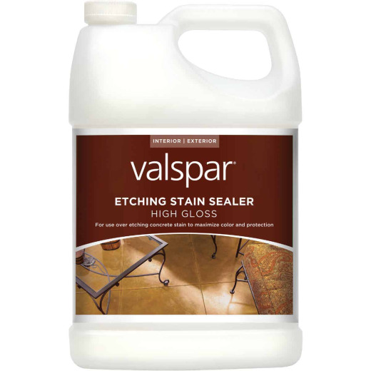 Valspar Clear Concrete Etching Stain Sealer, 1 Gal.
